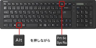 図10「Alt」+「PrintScreen(PrtSc/PrtScrn)」を押下する