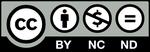 CCライセンス 表示 + 非営利 + 改変禁止